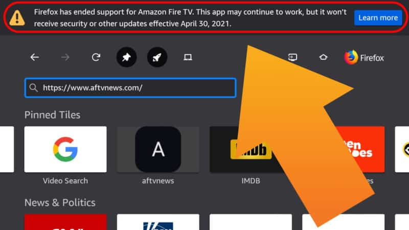 Firefox Ends Support for Amazon Fire TV