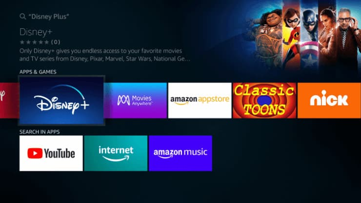 Disney Plus App on Firestick