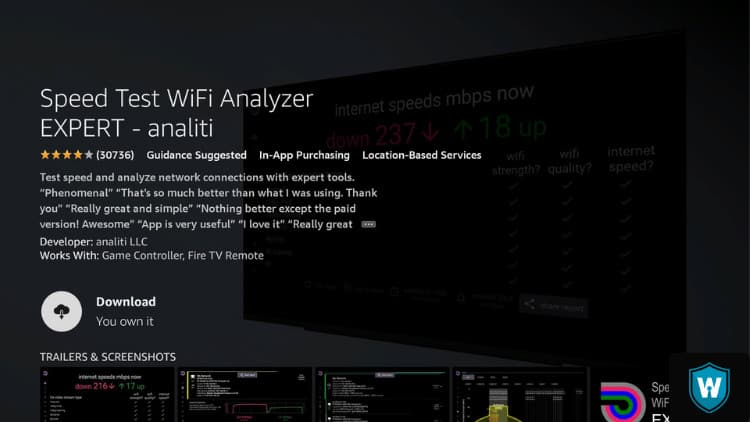 download analiti on firestick