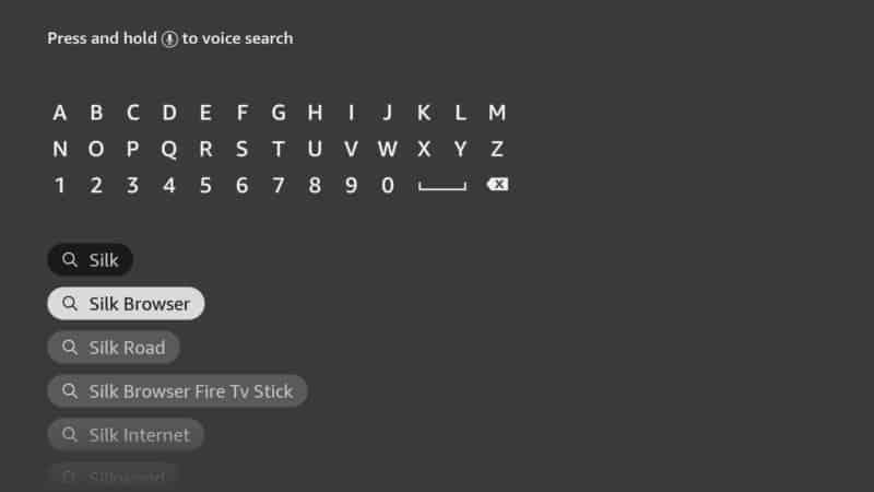 silk browser on firestick