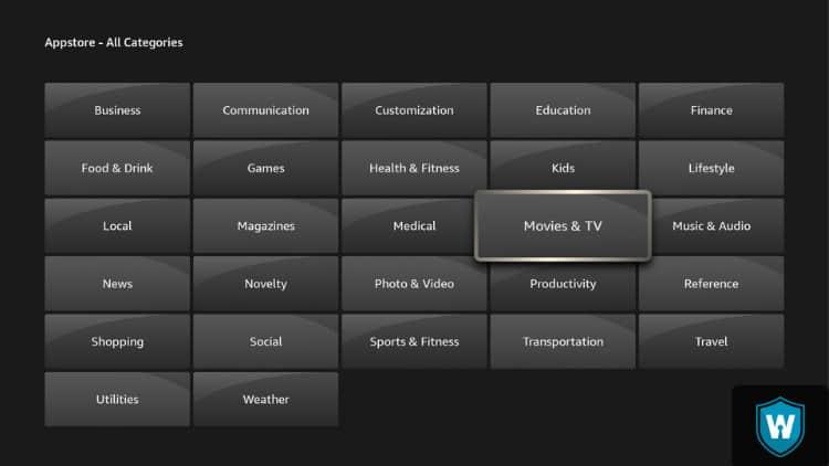 Appstore categories